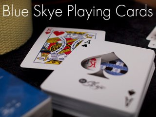 Blue Skye Playing Cards by UK Magic Studios and Victoria Skye(ブルースカイデック)