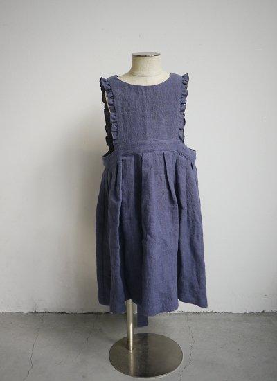 apron dress / blue purple