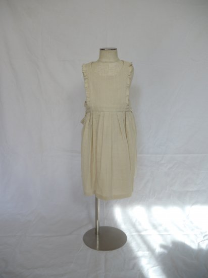 apron dress cream