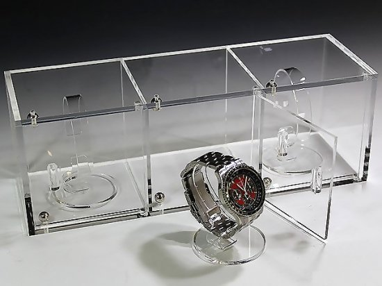 huge selection of 3f6bf ab94f 腕時計ショーケース(時計スタンド3個セット) 【腕時計ケース】【アクリルケース】【腕時計ディスプレイ】
