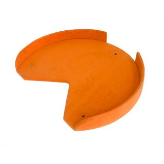 ステップ台(丸形縁つき/高さ8cm×長さ59cm×幅49cm)