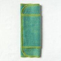ふつうの日用(M)えんじゅ+藍染め 糸:黄緑