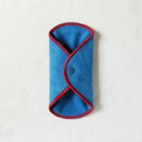ボタン付ライナー(BL)藍染め 糸:赤