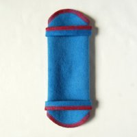 ホルダー(H)藍染め 糸:赤