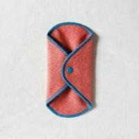 ボタン付ライナー(BL)茜染め 糸:ターコイズ