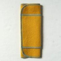 ふつうの日用(M)マリーゴールド染め 糸:ベビーブルー