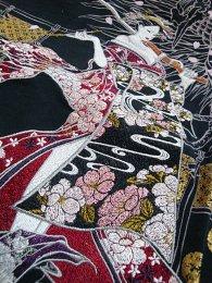 華鳥風月「花魁 スラブ天竺半袖和柄Tシャツ」