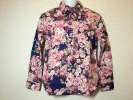 衣櫻 「金粉乱れ桜」和柄長袖シャツ