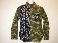 衣櫻 「カモフラージュ×枝垂れ桜」和柄長袖シャツ