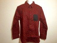 20%OFF 衣櫻 「小桜×麻の葉」和柄長袖シャツ