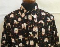 衣櫻 長袖レギュラーシャツ「新招き猫」