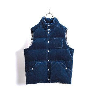 Corduroy Type Down Vest With Song Dog Print Lining 【NYUZELESS(ニューズレス)】 通販