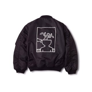 <img class='new_mark_img1' src='//img.shop-pro.jp/img/new/icons16.gif' style='border:none;display:inline;margin:0px;padding:0px;width:auto;' />KEITH HARING×FOSTEX GARMENTS BOMBER JACKET 【 FOSTEX GARMENTS(フォステックスガーメンツ)】 通販