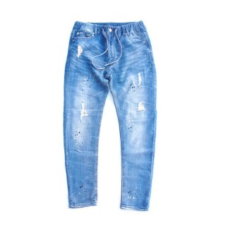 <img class='new_mark_img1' src='//img.shop-pro.jp/img/new/icons16.gif' style='border:none;display:inline;margin:0px;padding:0px;width:auto;' />OBLEKT DAMAGE SKINNY JEANS 【BLUE BLUE(ブルーブルー)】 通販