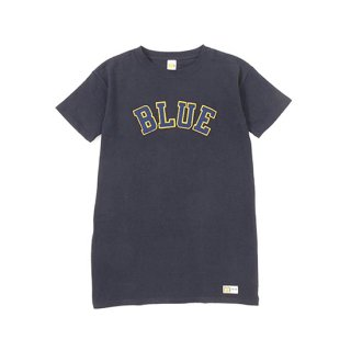 RUSSELL×BLUEBLUE WOMENS BLUE PATCH S/S ONE PIECE 【BLUE BLUE(ブルーブルー)】 通販