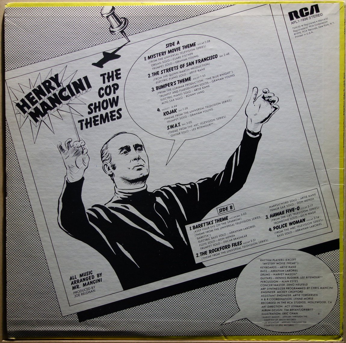 o s t henry mancini the cop show themes vinylian vintage