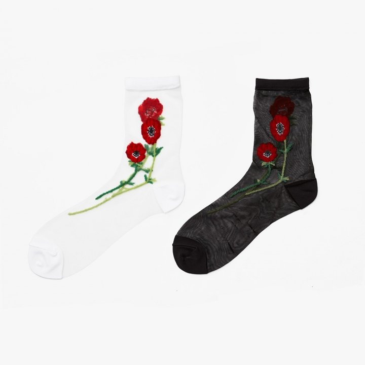 MARTE Anemone Sheer Socks
