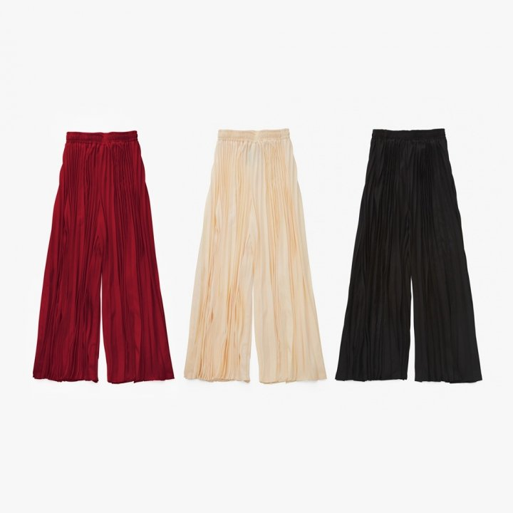 MARTE Pleats Wide Pants