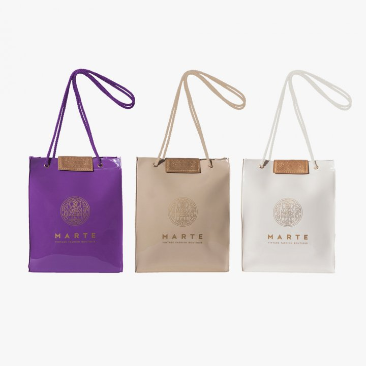 MARTE PVC Logo Shopper Bag