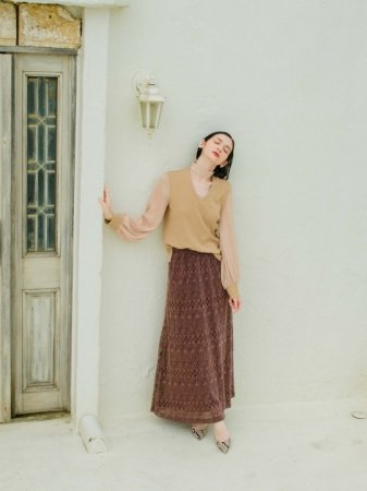 <img class='new_mark_img1' src='//img.shop-pro.jp/img/new/icons5.gif' style='border:none;display:inline;margin:0px;padding:0px;width:auto;' />MARTE Lace Long Skirt
