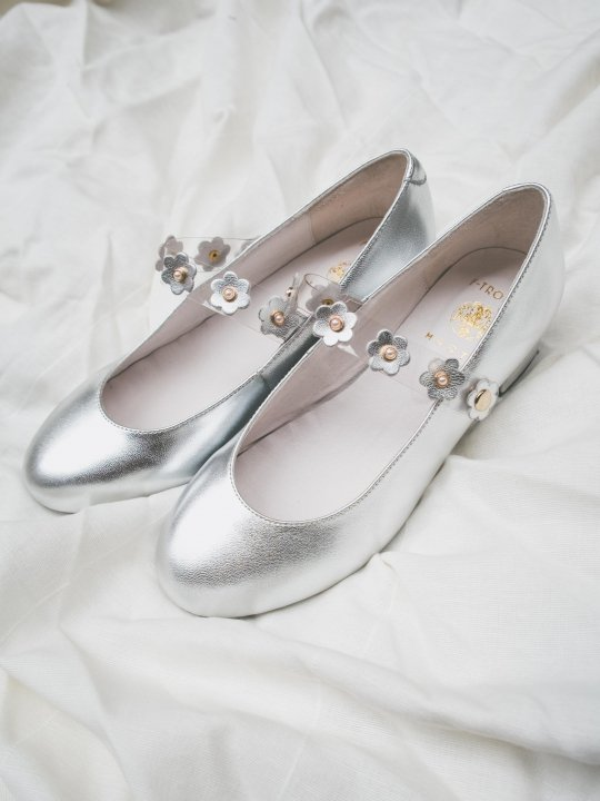 HEELED DAISY MARY JANE(SILVER)