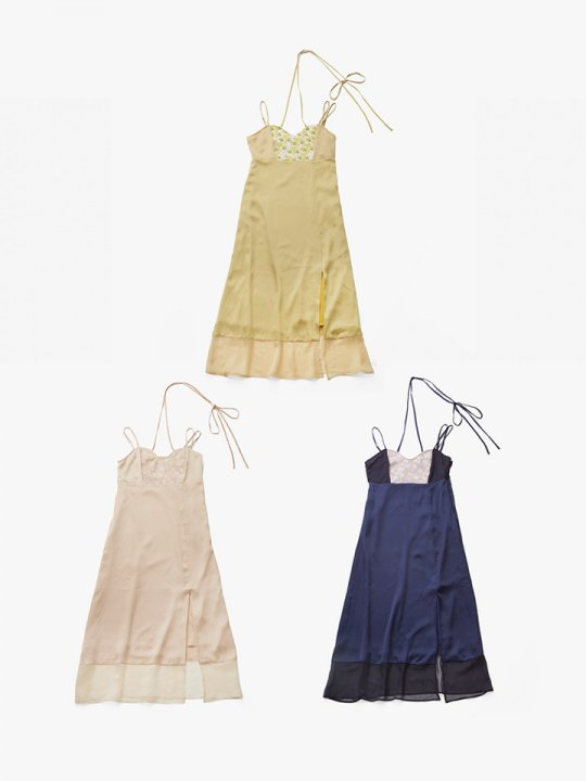 <img class='new_mark_img1' src='//img.shop-pro.jp/img/new/icons38.gif' style='border:none;display:inline;margin:0px;padding:0px;width:auto;' />MARTE Ribbon Neck JQ Camisole Onepiece