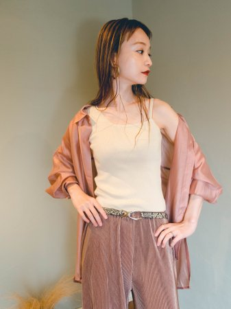 <img class='new_mark_img1' src='//img.shop-pro.jp/img/new/icons5.gif' style='border:none;display:inline;margin:0px;padding:0px;width:auto;' />Sheer Textile Shirt (Pink/Gray/Khaki)