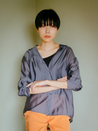 <img class='new_mark_img1' src='//img.shop-pro.jp/img/new/icons5.gif' style='border:none;display:inline;margin:0px;padding:0px;width:auto;' />Sheer Shirts Tops(Gray/Brown)