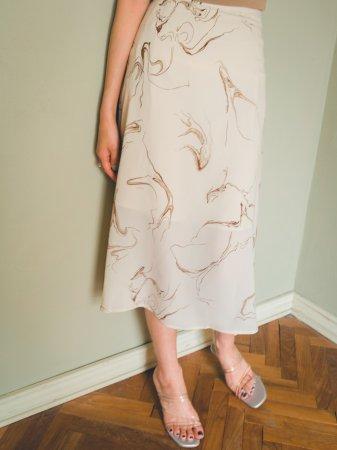 Marble Pattern Skirt