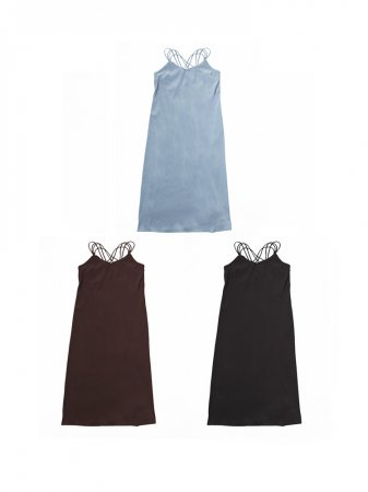 <img class='new_mark_img1' src='//img.shop-pro.jp/img/new/icons5.gif' style='border:none;display:inline;margin:0px;padding:0px;width:auto;' />MARTE Back Cross Camisole Dress