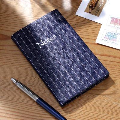 レザースミス オブ ロンドン NBB53R ノートブック(ファイン・ピン)
