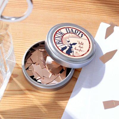 ブックダーツ/缶入り・ブロンズ
