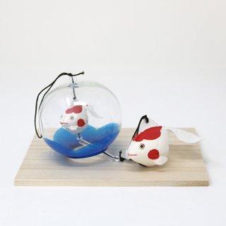 風鈴金魚親子 (赤)