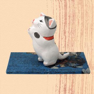 Ukiyo-e Cat hachi / inori 「浮世絵猫 はち/いのり」