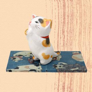Ukiyo-e Cat mike / inori 「浮世絵猫 みけ/いのり」
