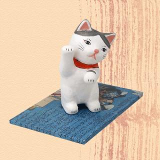 Ukiyo-e Cat hachi / maneki 「浮世絵猫 はち/まねき」