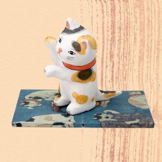 Ukiyo-e Cat mike / maneki 「浮世絵猫 みけ/まねき」