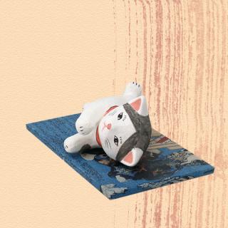 Ukiyo-e Cat hachi / yasuragi「浮世絵猫 はち/やすらぎ」