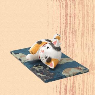 Ukiyo-e Cat mike / yasuragi「浮世絵猫 みけ/やすらぎ」