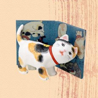 Ukiyo-e Cat mike / amae 「浮世絵猫 みけ/あまえ」