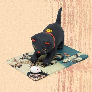 Ukiyo-e Cat kuro / nerai 「浮世絵猫 くろ /ねらい」