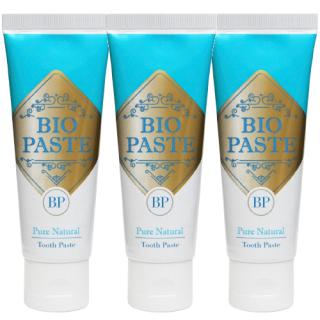 BIO PASTE � バイオペースト� 60g×3本セット 歯磨き粉 デンタルケア 100%ナチュラル成分 バイオミネラル使用 口臭予防 マウスウォッシュとしても!
