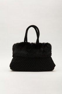 ニットファーバッグ ブラック(バッグ本体のみ)本体価格¥19000