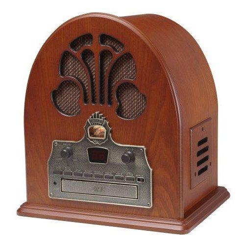 レトロアンティーク CR32 大聖堂 CDプレーヤー・ラジオ Crosley社
