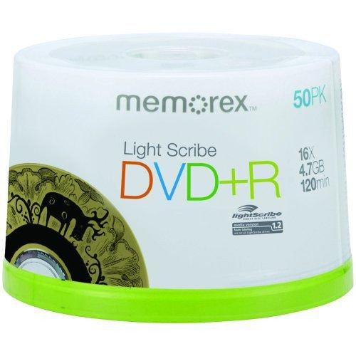 Memorex 4 7gb 16倍速 Dvd Rディスク(スピンドルケース 50枚パック) の通販 カラメル