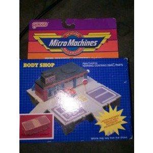1986 Galoob Micro Machines Travel city Body Shop ミニカー ミニチュア 模型 プレイセット自動車 ダイ