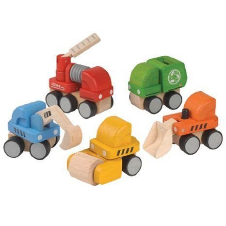 About Town Wooden Vehicles Toys For Kids ミニカー ミニチュア 模型 プレイセット自動車 ダイキャスト