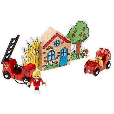 BRIO Fire Brigade Play Set ミニカー ミニチュア 模型 プレイセット自動車 ダイキャスト