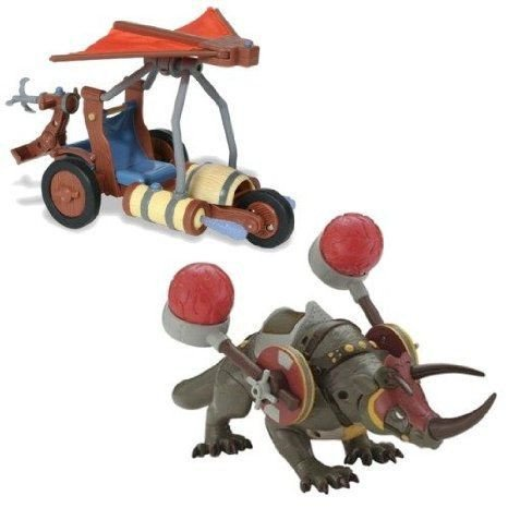 Fire Attack Rhino and Air Attack Battle Glider - Avatar The last Airbender Set ミニカー ミニチュア