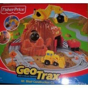 GeoTrax Rail & Road System Mt. Blast Construction Company ミニカー ミニチュア 模型 プレイセッ…